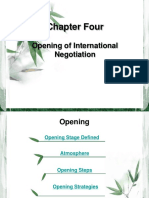 Chapter-4:Opening of International Negotiation