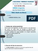 Diseño de Sifon Invertido ELP C Irrigación