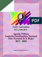 Agenda Política de La Comisión Coordinadora Nacional del Foro Nacional de la Mujer