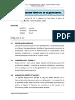 02.Especificaciones Tecnicas Arquitectura