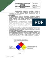 CCG-SySO-E12-Manejo de Productos Químicos Peligrosos