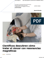 Descubren Eliminar Cancer Resonancia Magnetica