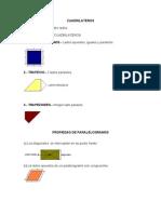 Cuadrilateros Paralelogramo Trapecios Trapezoides Propiedad de Paralelogramos Teoremas