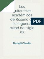 Devigili Claudio - Los Guitarristas Académicos de Rosario de La Segunda Mitad Del Siglo XX 21 a 30