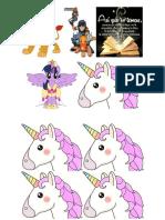 Unicornios imprimir