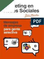 eBook en PDF Marketing en Redes Sociales Mensajes de Empresa Para Gente Selectiva