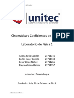 Cinemática y Coeficientes de Fricción