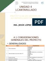 UNIDAD 4-Proyecto de Un Sistema de Alcantarillado