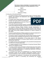 LANDBASED-Revised POEA Rules and Regulations Governing