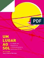 Um lugar ao sol. A cidade em disputa no cinema brasileiro contemporâneo