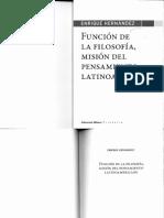 Función de la filosofía, misión del pensamiento latinoamericano