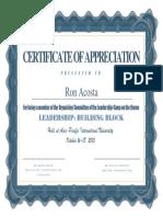 certificate-organizing committee