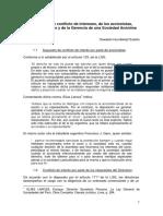 Supuestos de conflicto de intereses de accionistas directores y gerencia en una SA - Oswaldo Hundskopf.pdf