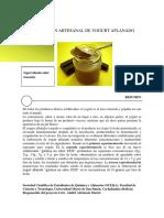 Produccion Artesanal de Yogurt Aflanadodocumento Para Publicacion