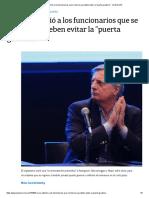 La Nación - La OA Advirtió a Los Funcionarios Que Se Fueron Que Deben Evitar La _puerta Giratoria-