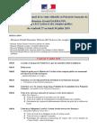 Programme Prévisionnel de La Visite Officielle de Monsieur Le Ministre Gérald Darmanin - Juillet 2018