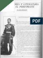 IDEOLOGÍA Y LITERATURA EN EL PORFIRIATO