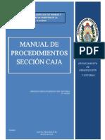 Manual de Procedimientos sección Caja