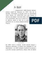 Breve Biografia de Heirich Böll