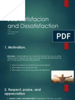 Job Satisfacion and Dissatisfaction