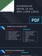 DIFERENCIAS NORMA ISO 9001 2008 ISO 9001 2015