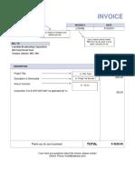 3. Invoice Template
