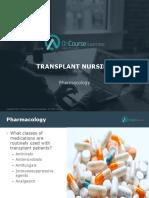 Transplant Nursing Pharmacology FINAL