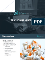 Transplant Nursing Pharmacology FINAL