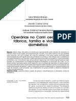 Araujo Et Al 2011 Operárias No Cariri Cearense