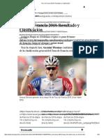 Tour de Francia 2018_ Resultado y Clasificación