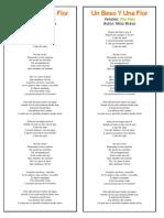 Cancion Fito Paez_un Beso y Una Flor Cover