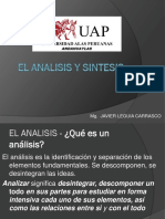 El Analisis y Sintesis