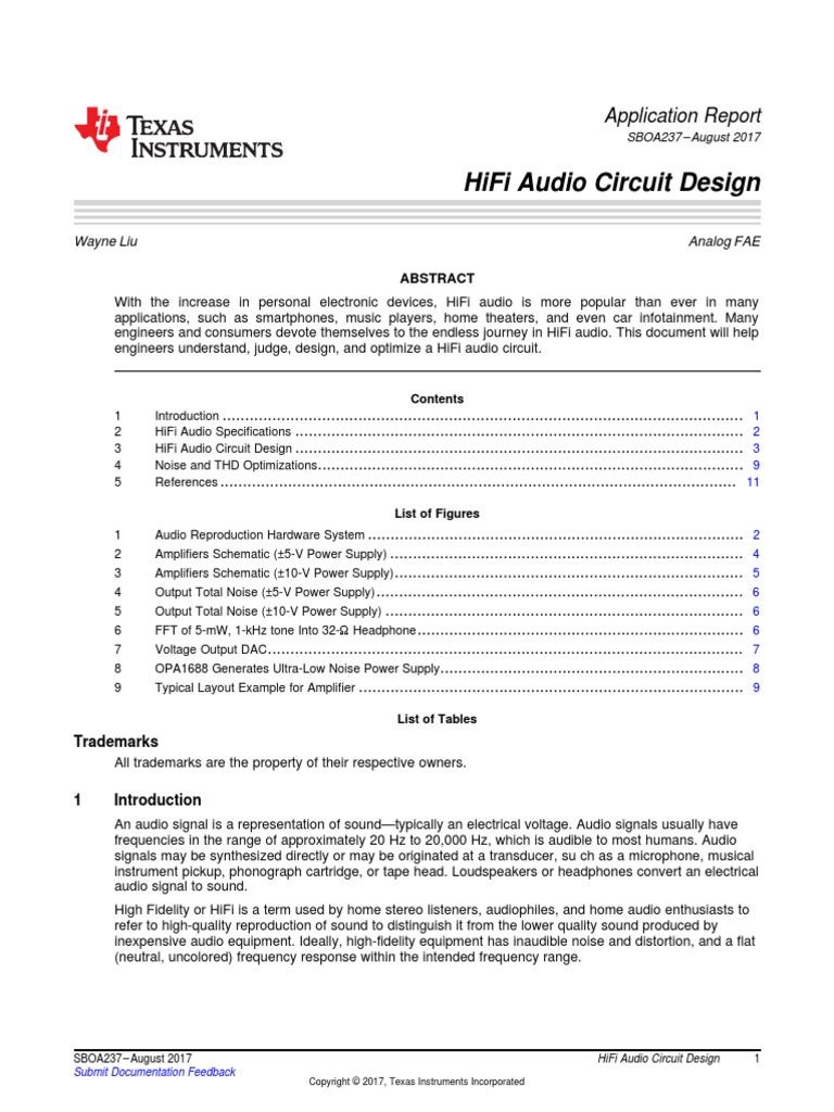 Hifi Audio Circuit Designpdf Amplifier Power Supply Wireless Microphone Audiocircuit