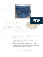 denim pouch tutorial craftsy