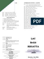 Brûlé Regatta 2018 - Program - Final
