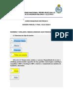 Examen Parcial y Final Maquinas Electricas II Ciclo 2018-JUAN REBAZA SARANGO