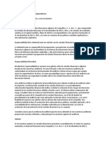 Informe de Los Auditores Independientes