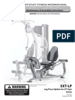 Hybrid Home Gym Optional Leg Press (SXT-LP) Owner's Manual