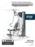 TuffStuff Classic Home Gym (AXT-225) Owner's Manual