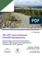 1 Circular ProGEO Symposium 2018