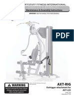 Cable Outrigger Arms (AXT-RIG) Owner's Manual