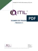 5b. Examen de Prueba 2 ITIL F en Línea ORCI Latam 5