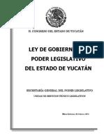 Ley de Gobierno DEL ESTADO LIBRE Y SOBERANO DE YUCATÁN