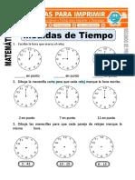 Ficha de Medidas de Tiempo Para Segundo de Primaria