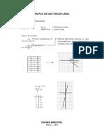 Gráfica de una función lineal, examen bimestral