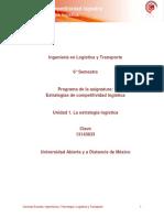 U1. La Estrategia Logistica