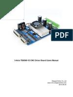 3 Axis TB6560 CNC Driver Board Users Manual