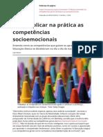 Como Aplicar Na Pratica as Competencias Socioemocionais