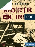 Morir en Irun - Mario de Salegi