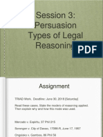 PPT LegWrite Session 3 on Types of Reasoning